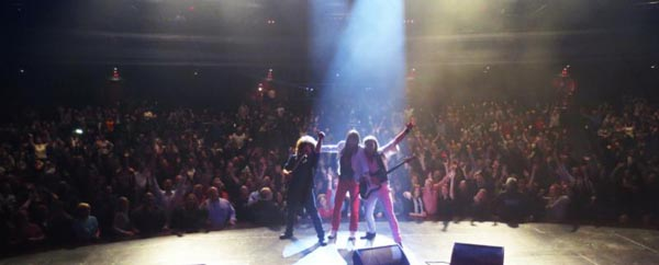 Journey Unauthorized performing for a crowd of over 2000 fans in Chicago