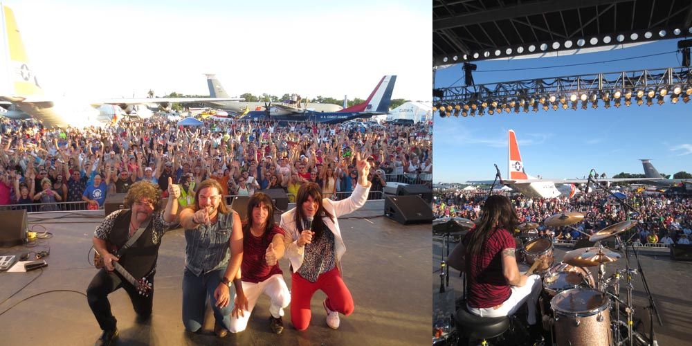 Journey Unauthorized Flys High With Huge EAA Airventure Crowd In Oshkosh, WI